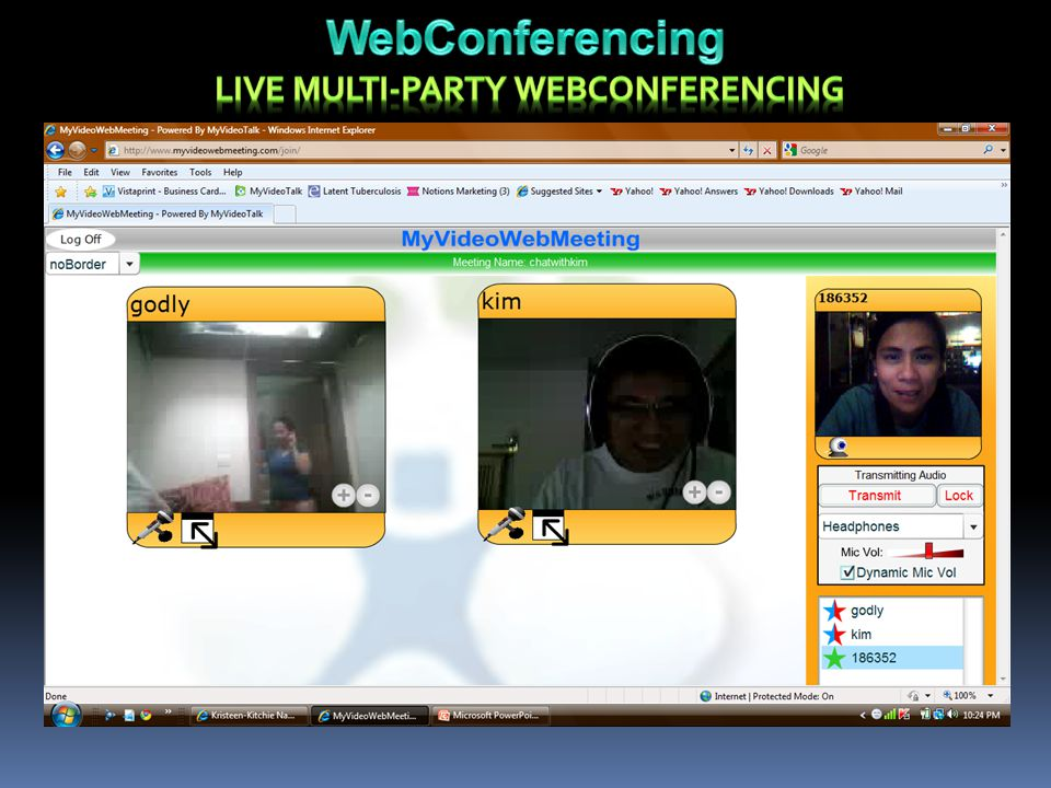 LIVE MULTI-PARTY WEBCONFERENCING