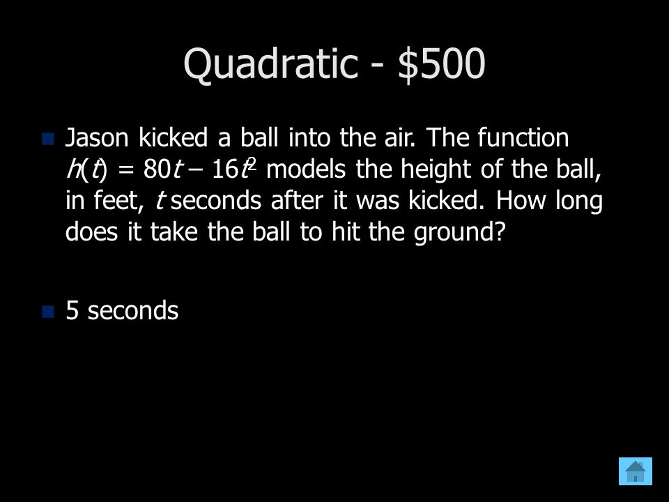 Quadratic - $500