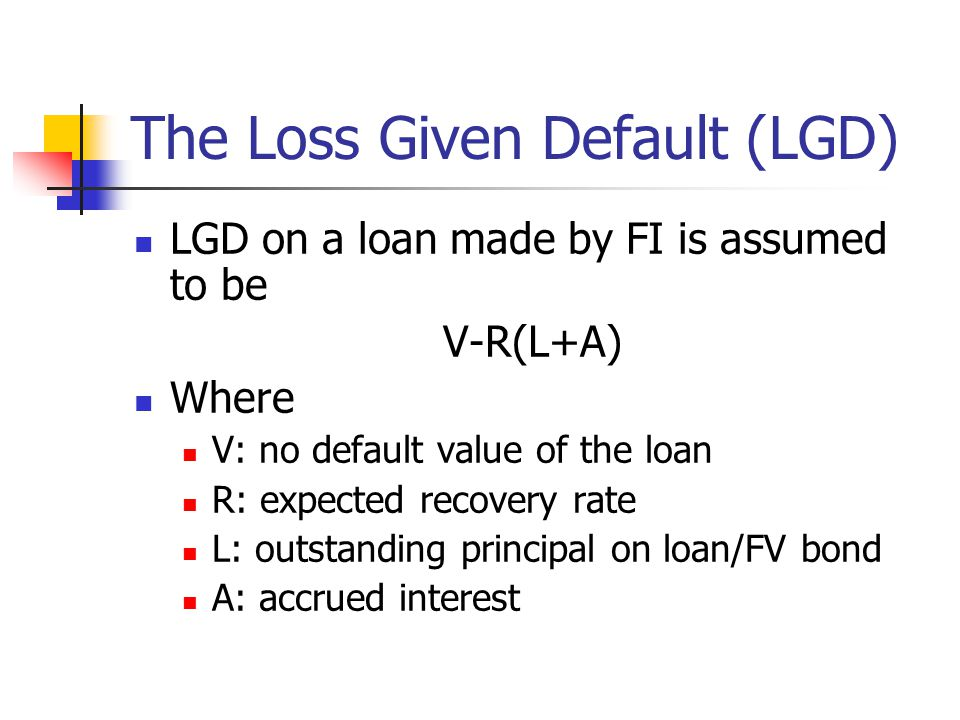 The Loss Given Default (LGD)