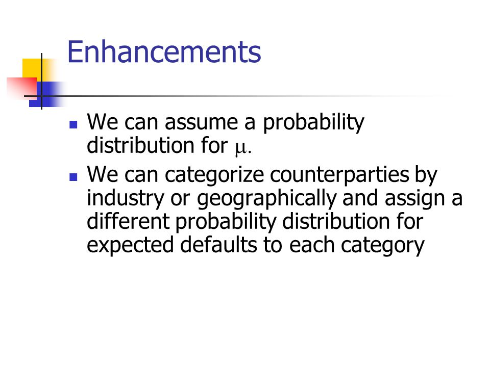 Enhancements We can assume a probability distribution for m.