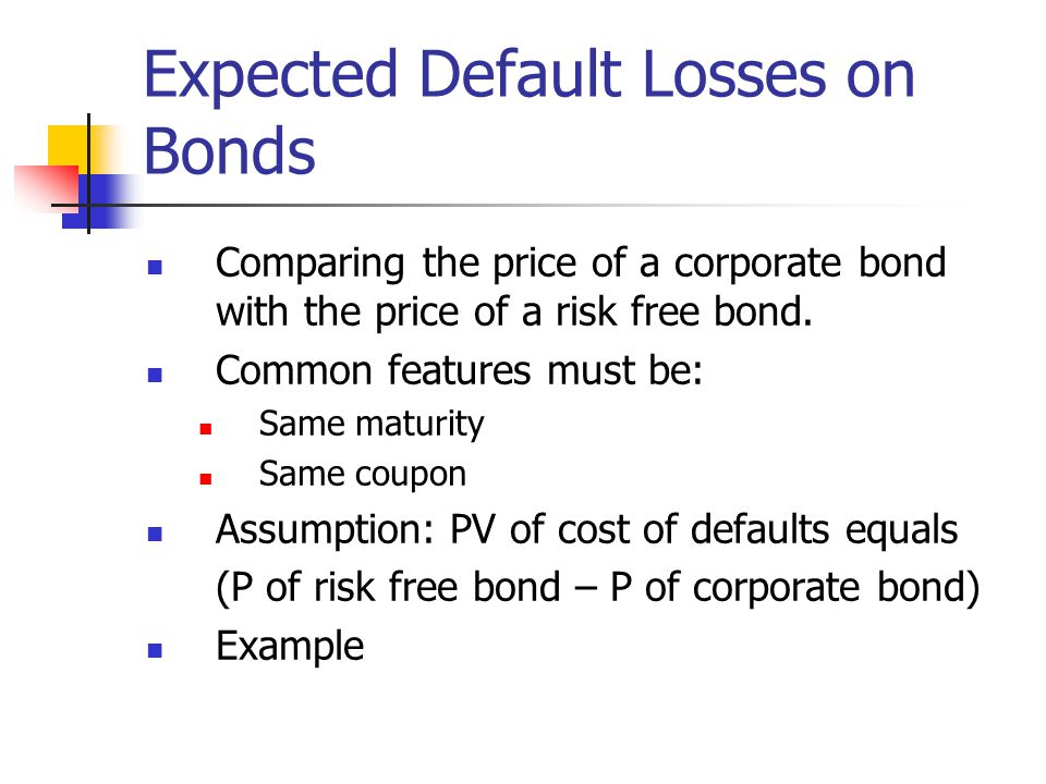 Expected Default Losses on Bonds
