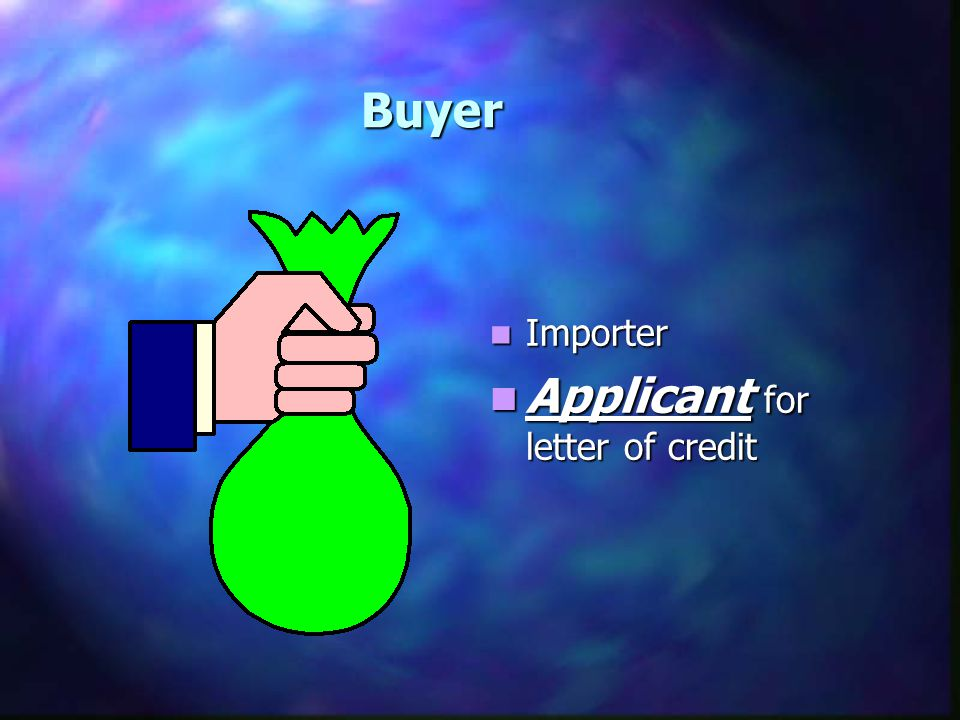 Applicant for letter of credit