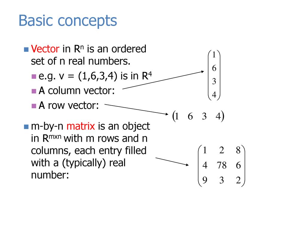 Review of Linear Algebra Introduction to Matlab - ppt download