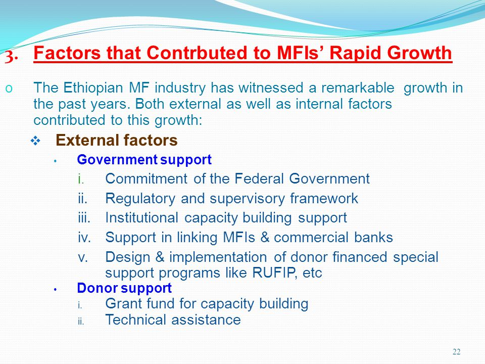 3. Factors that Contrbuted to MFIs' Rapid Growth