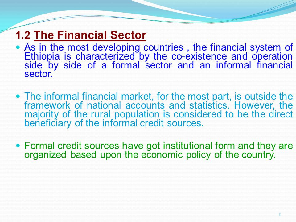 1.2 The Financial Sector