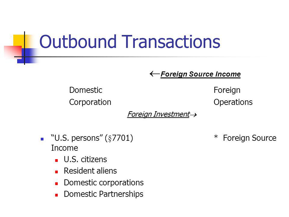 Outbound Transactions