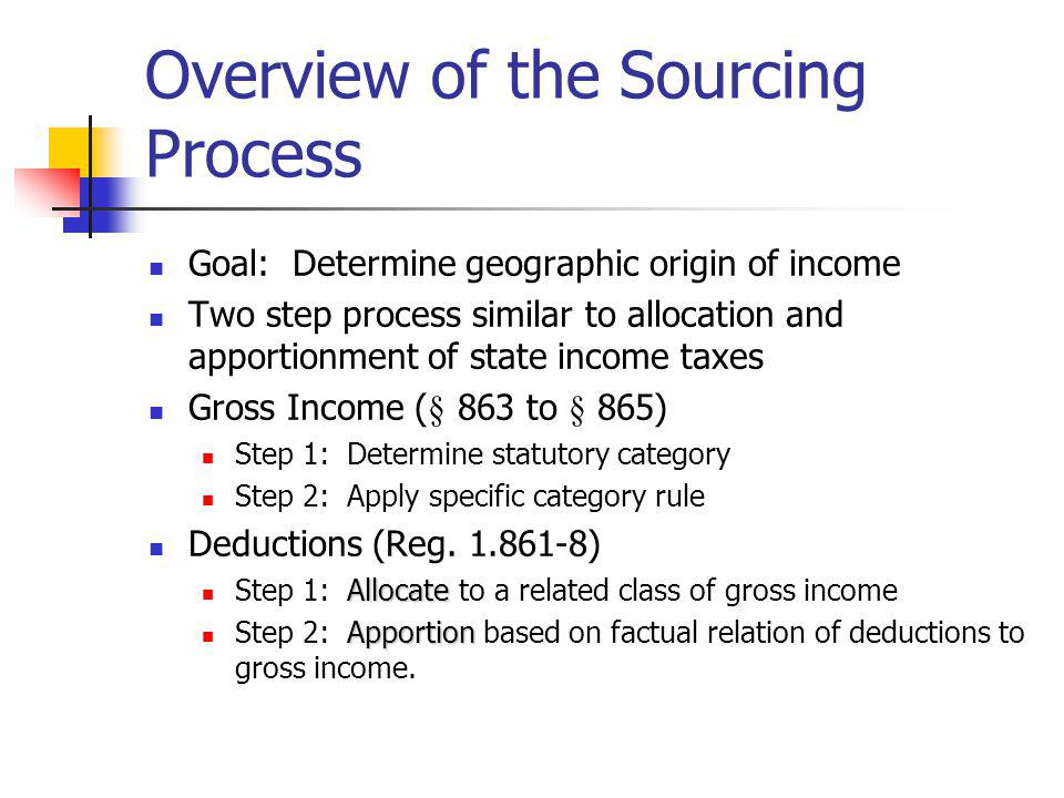 Overview of the Sourcing Process