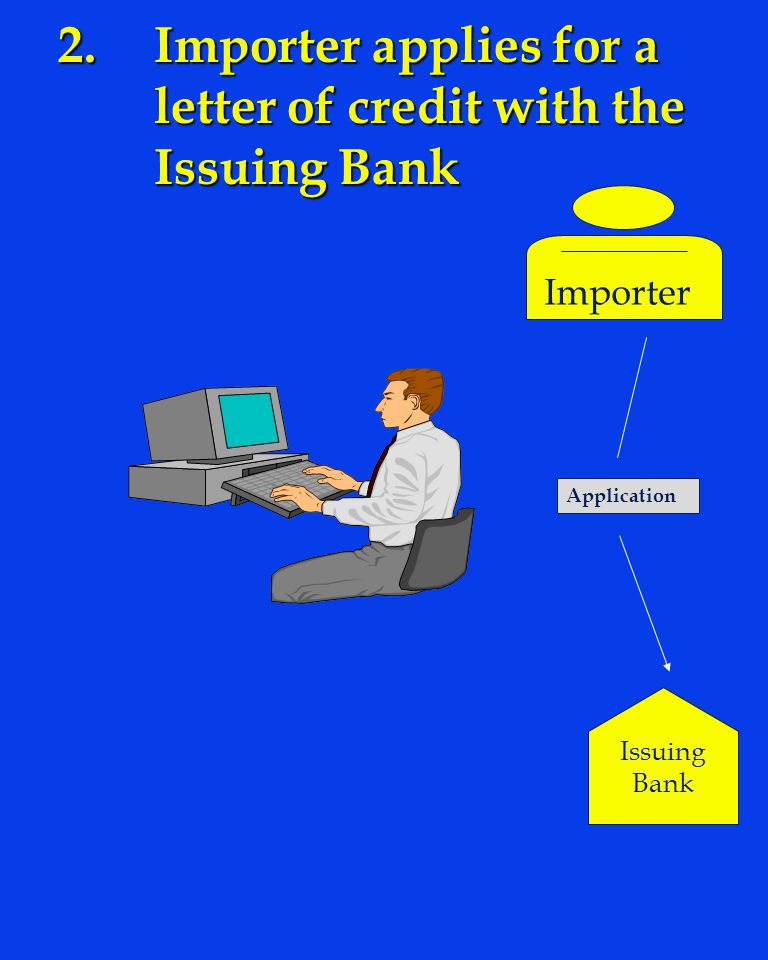 2. Importer applies for a letter of credit with the Issuing Bank