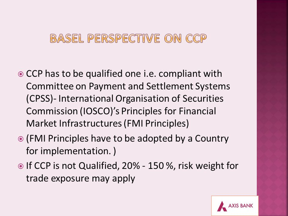 BASEL perspective on CCP