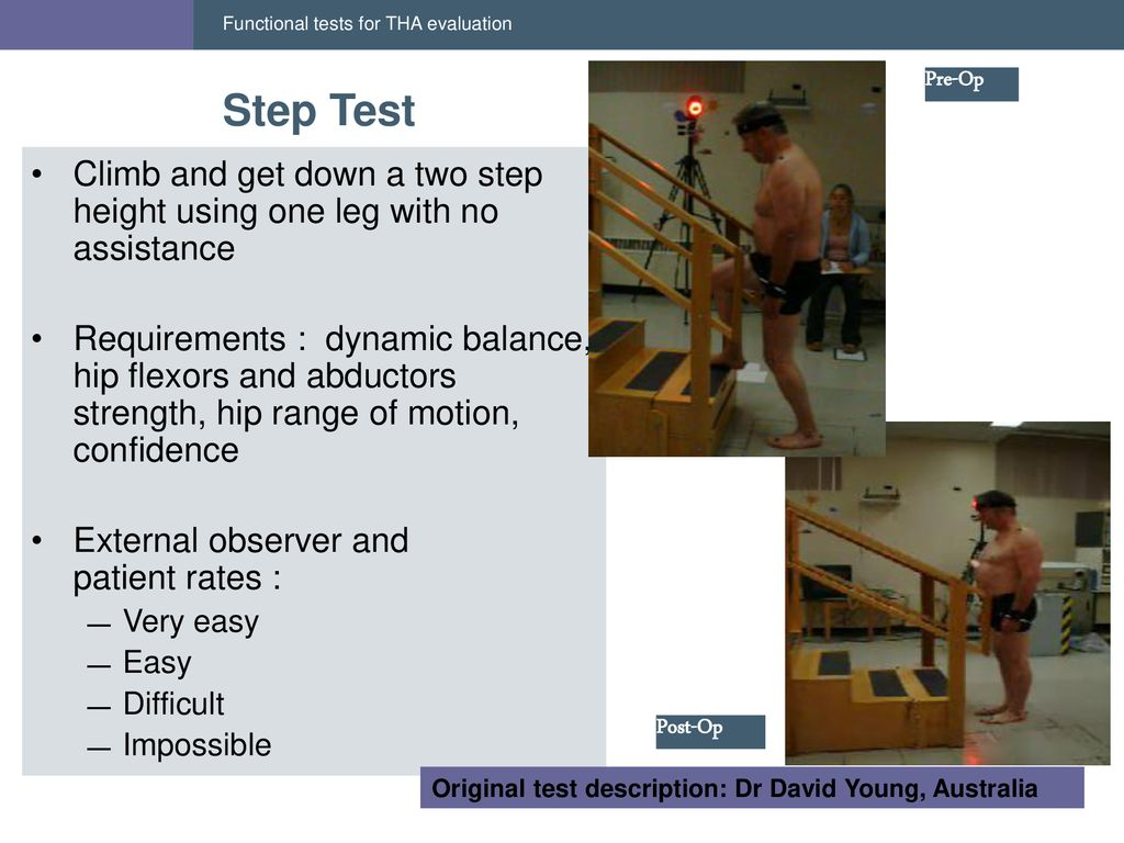 Hop and Step tests: new functional tests for THA evaluation