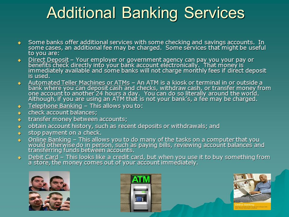 Additional Banking Services
