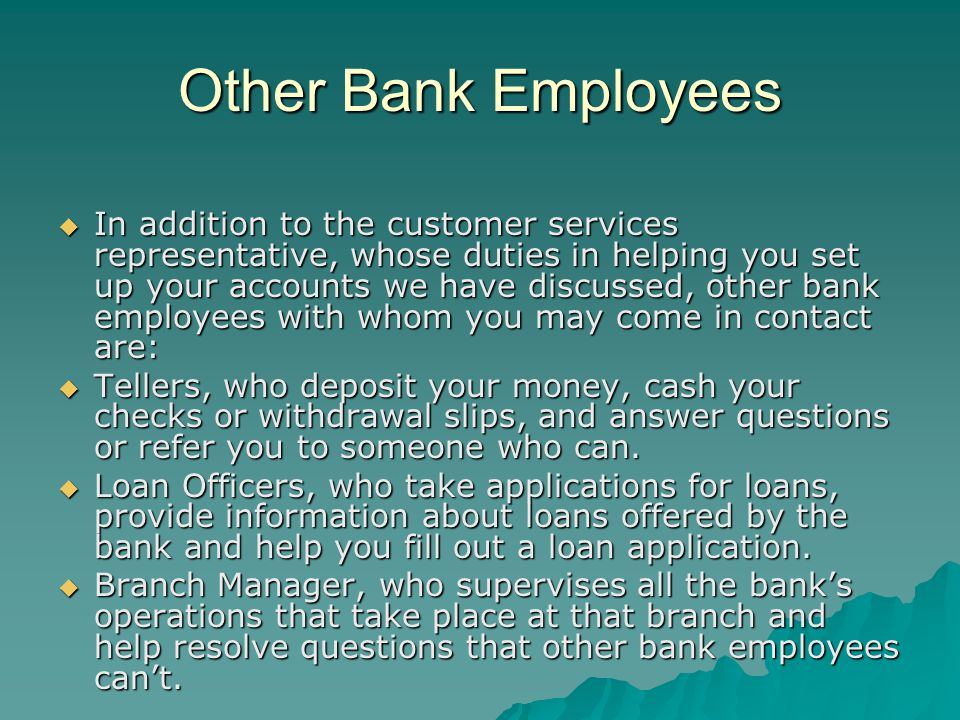 Other Bank Employees