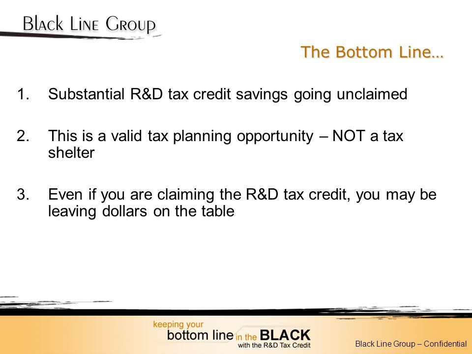 Substantial R&D tax credit savings going unclaimed