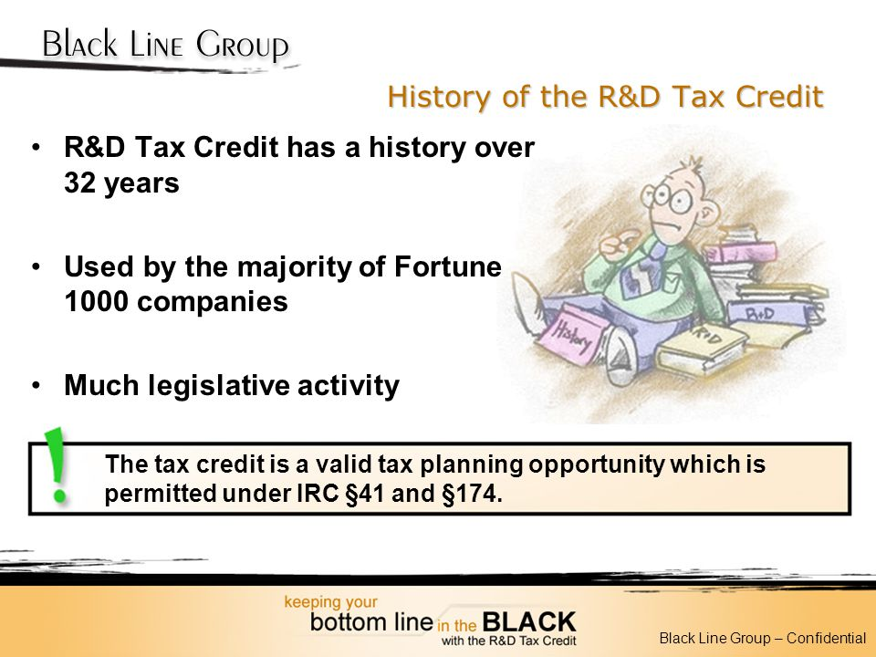 History of the R&D Tax Credit