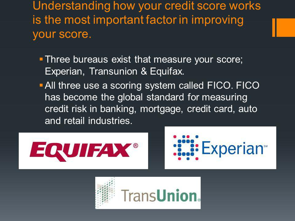 Understanding how your credit score works is the most important factor in improving your score.