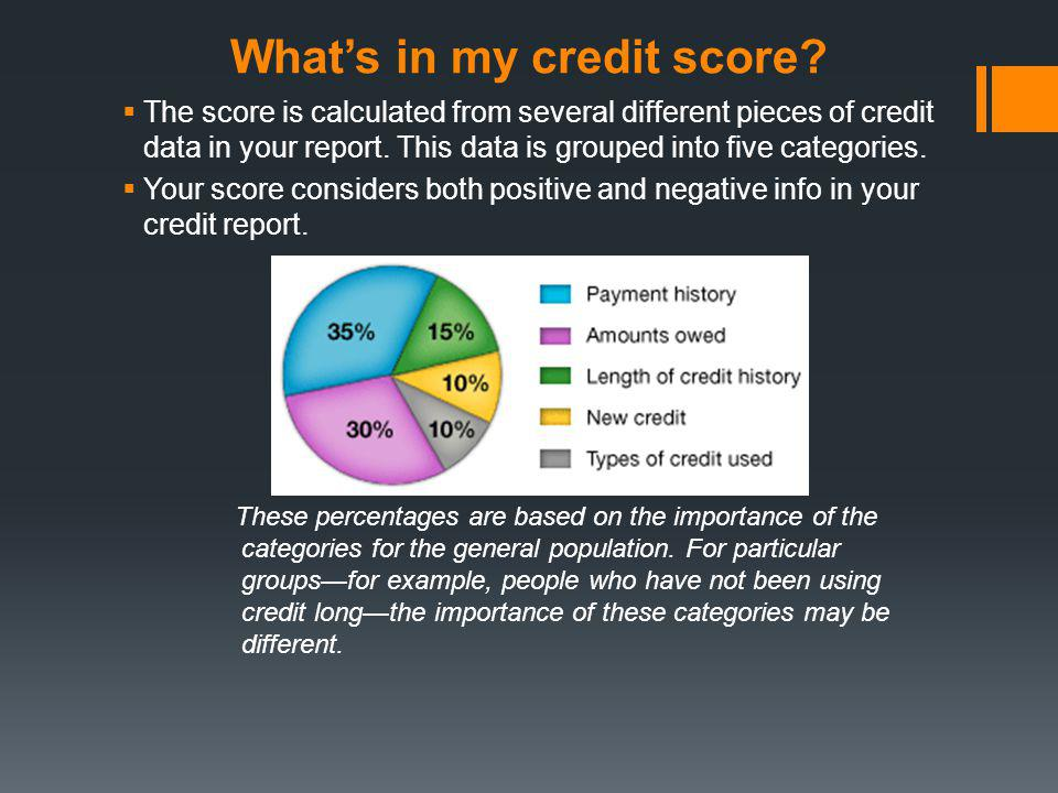 What's in my credit score