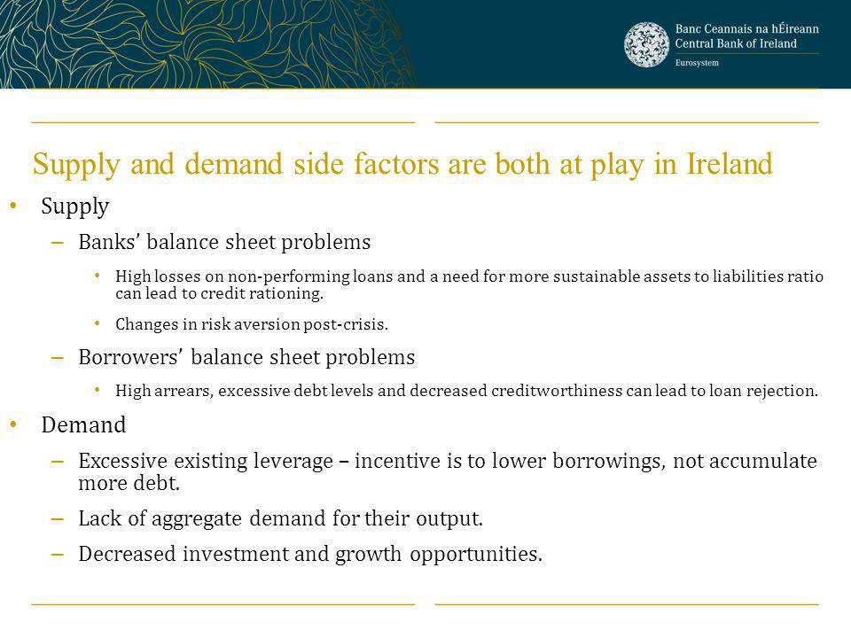 Supply and demand side factors are both at play in Ireland