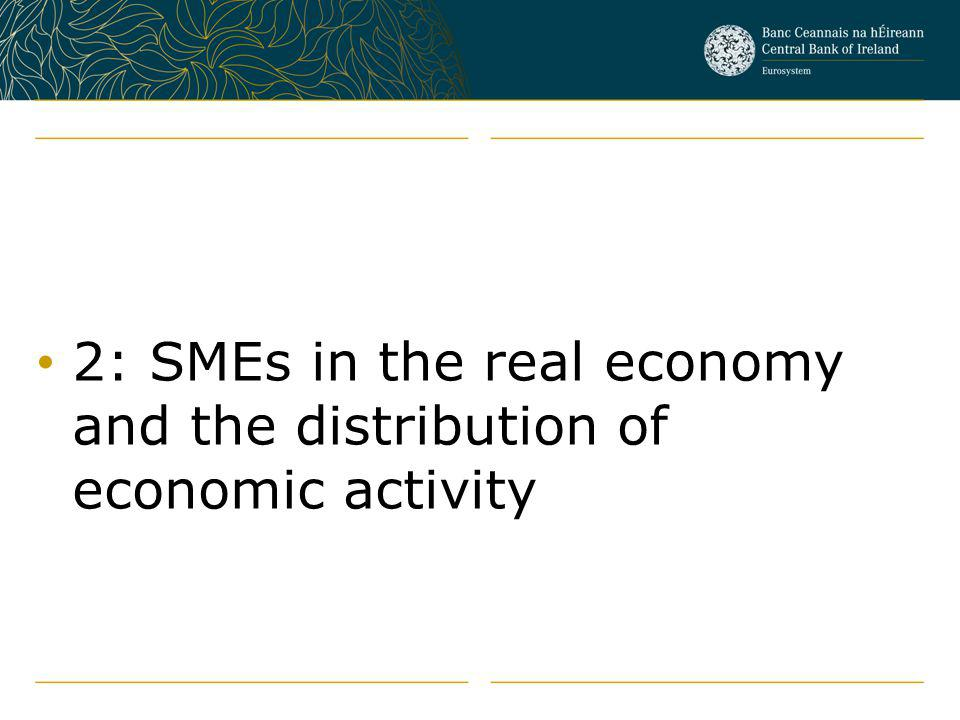 2: SMEs in the real economy and the distribution of economic activity