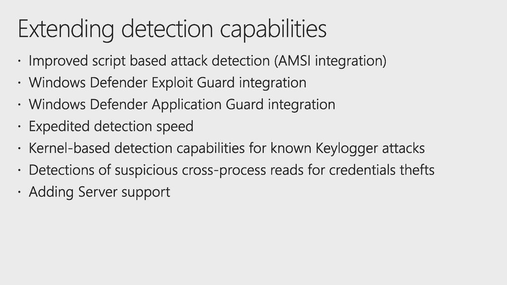 What's new in the Fall Creators Update for Windows Defender