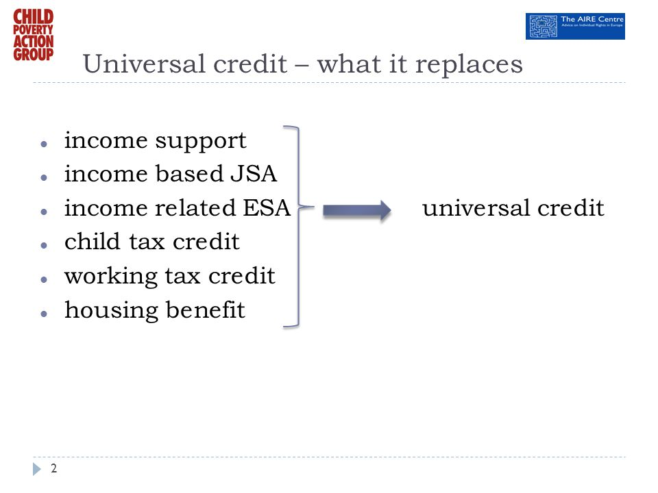 Universal credit – what it replaces