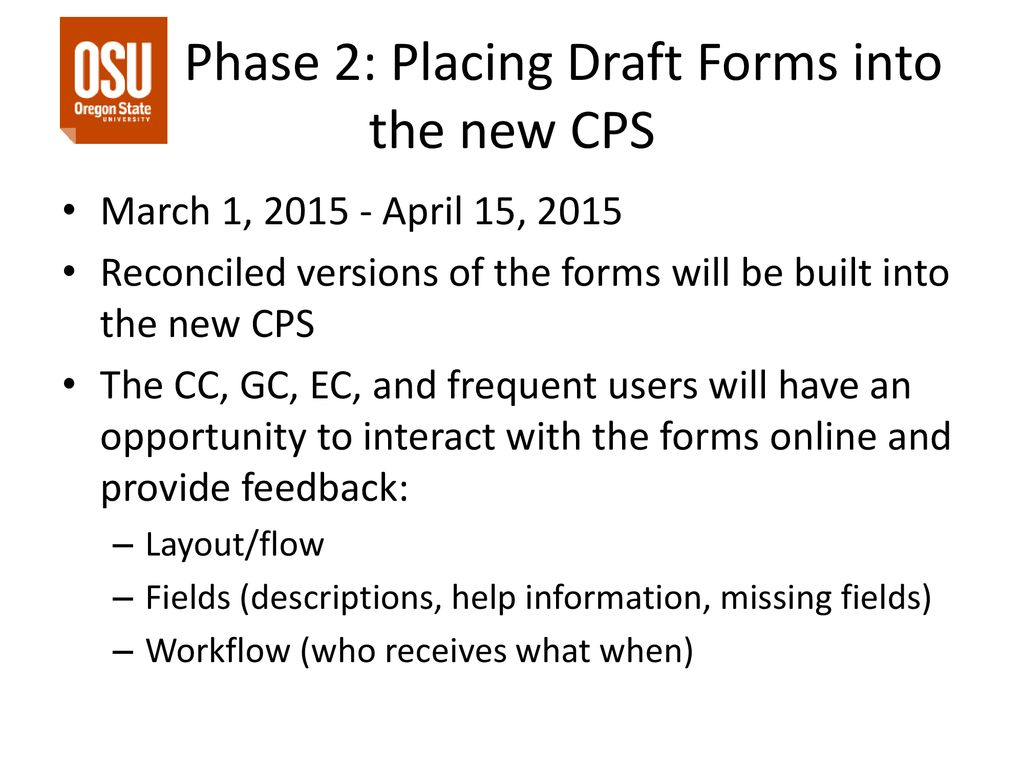 Preparation for New Curriculum Proposal System (CPS) - ppt