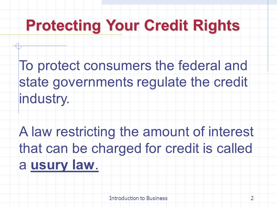 Protecting Your Credit Rights