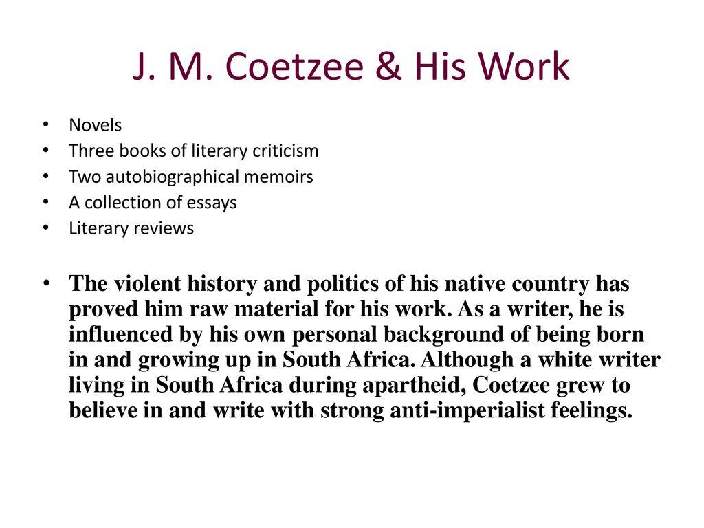 disgrace coetzee essay