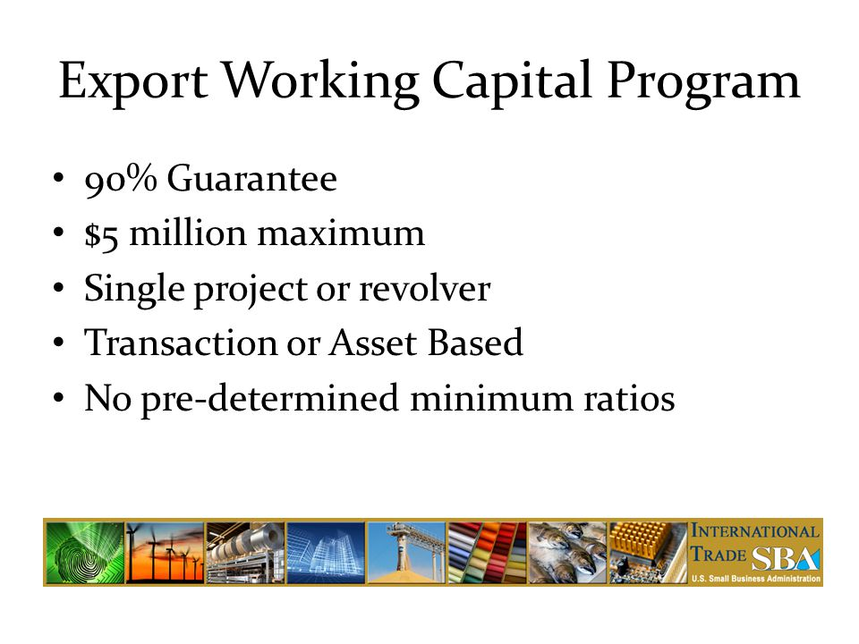 Export Working Capital Program