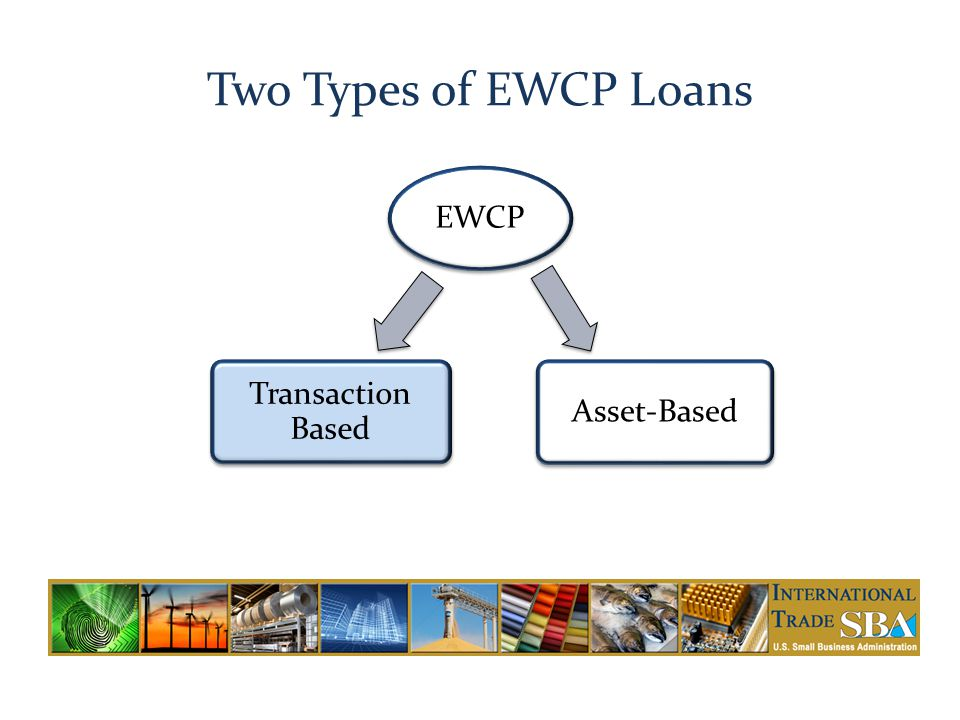 Two Types of EWCP Loans EWCP Transaction Based Asset-Based