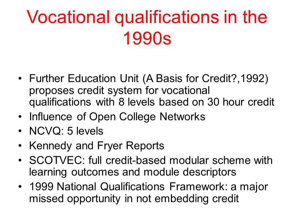 Vocational qualifications in the 1990s
