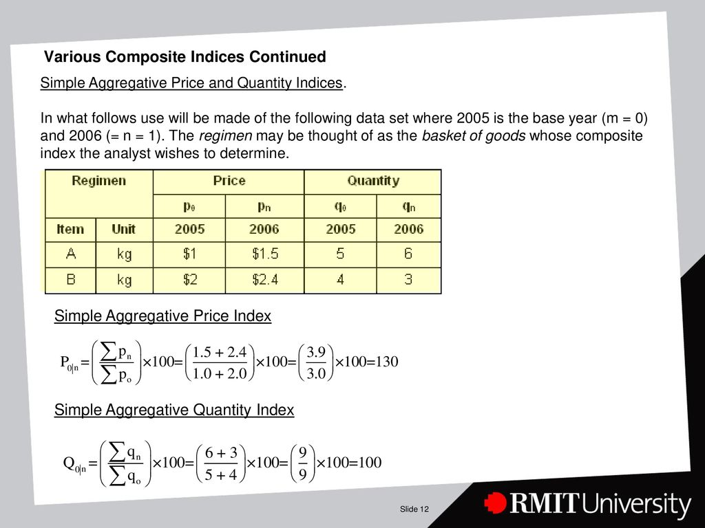 OMGT LECTURE 5: Index Numbers - ppt download