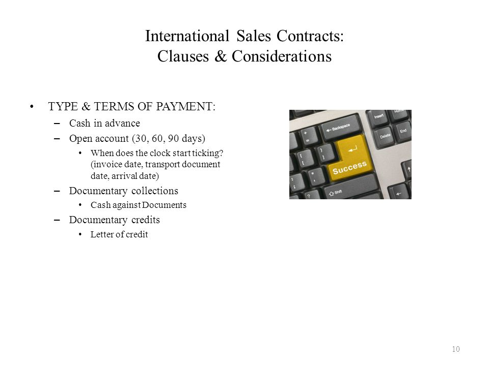 International Sales Contracts: Clauses & Considerations