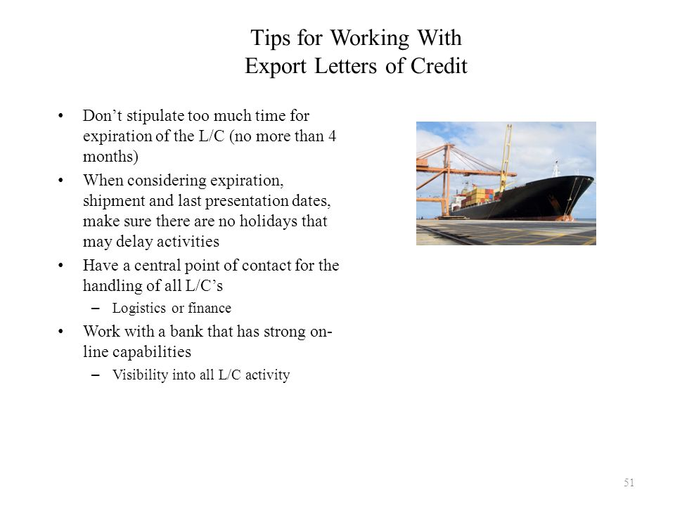 Tips for Working With Export Letters of Credit