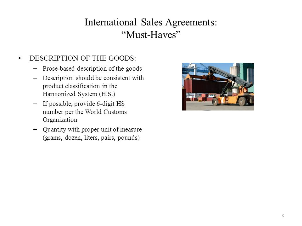 International Sales Agreements: Must-Haves