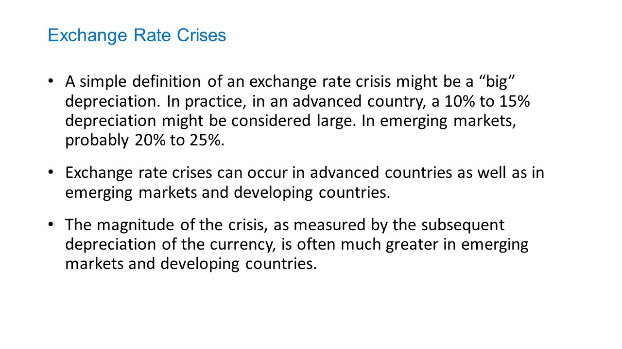 Exchange Rate Crises