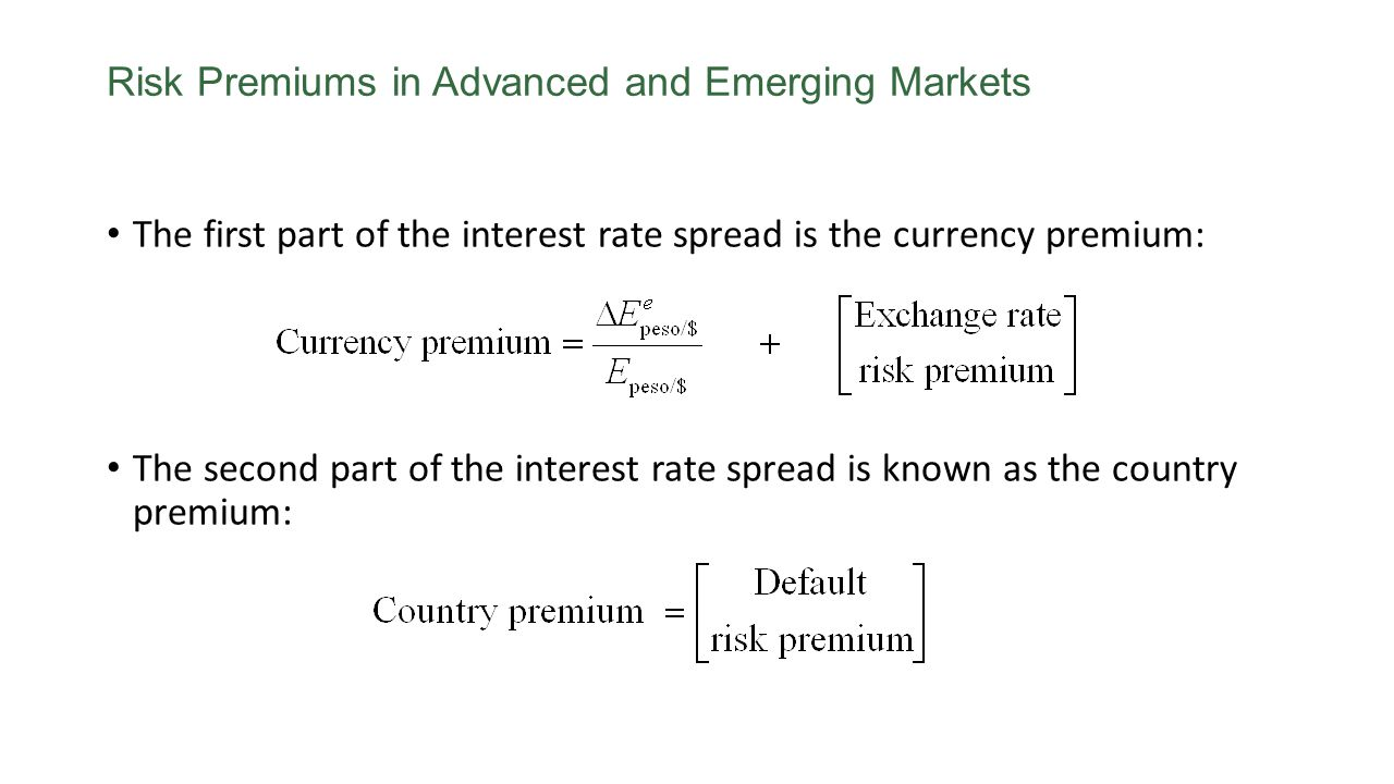 Risk Premiums in Advanced and Emerging Markets