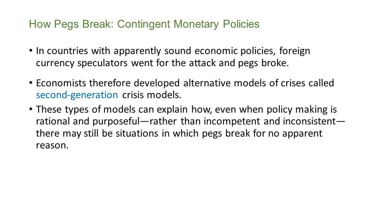 How Pegs Break: Contingent Monetary Policies