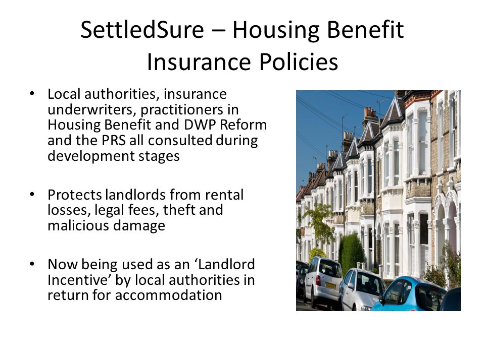 SettledSure – Housing Benefit Insurance Policies