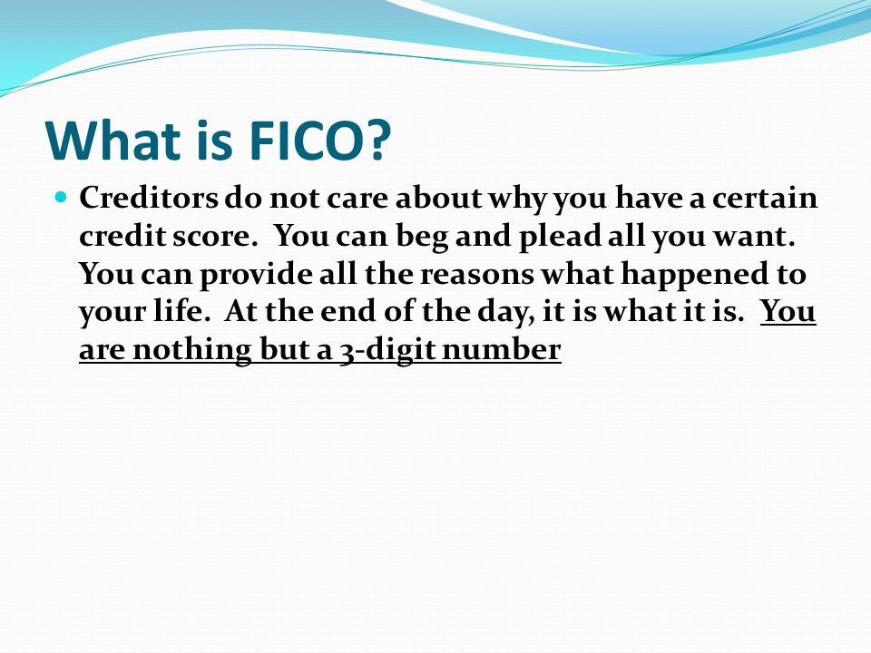 What is FICO