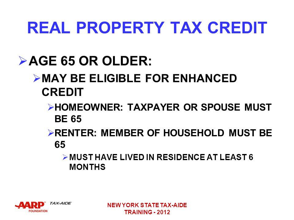 Enhanced Real Property Tax Credit New York
