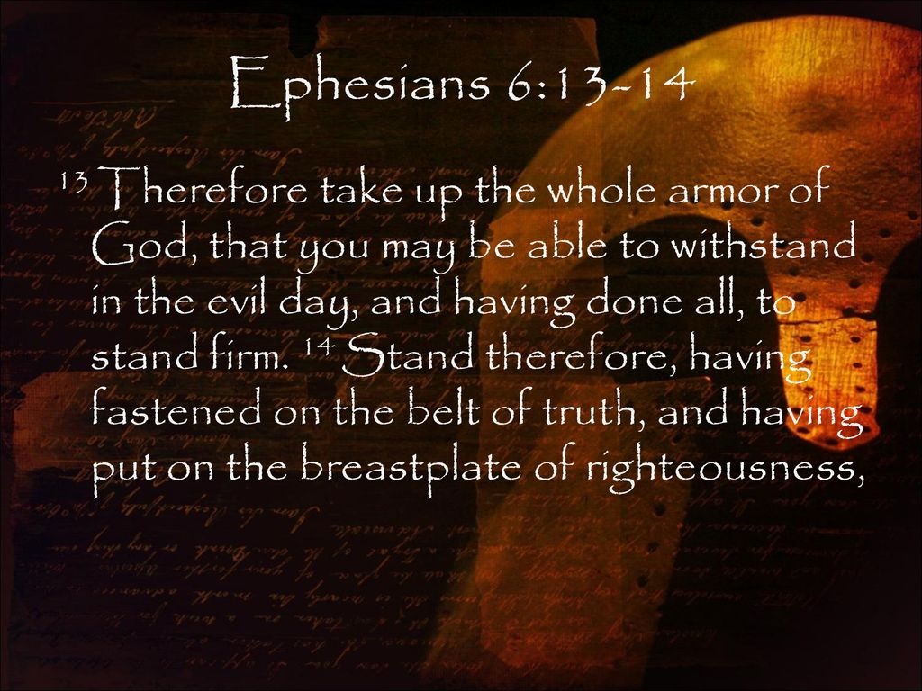 The Breastplate Of Righteousness Ephesians 6 14b Ppt Download