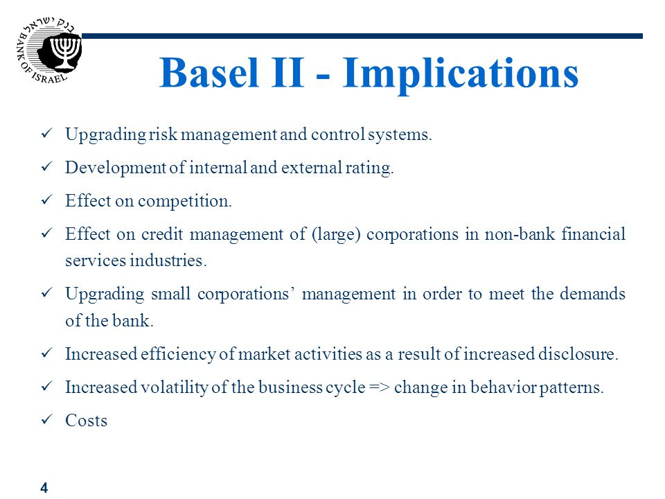 Basel II - Implications