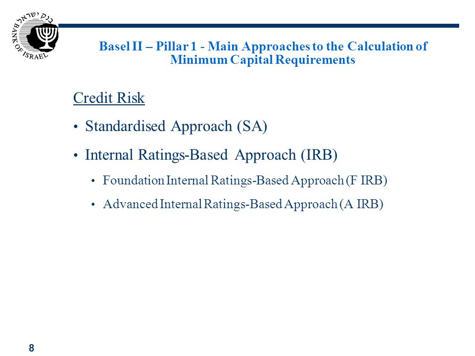 Standardised Approach (SA) Internal Ratings-Based Approach (IRB)