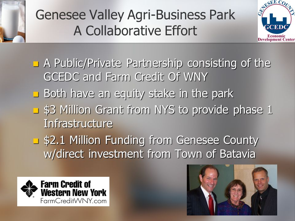 Genesee Valley Agri-Business Park A Collaborative Effort
