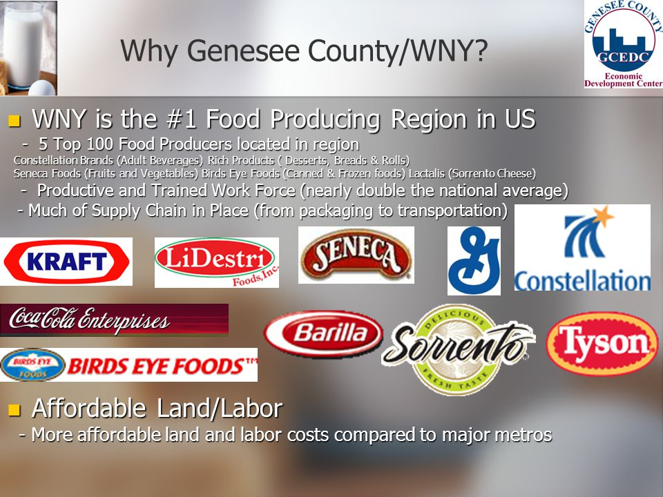 Why Genesee County/WNY