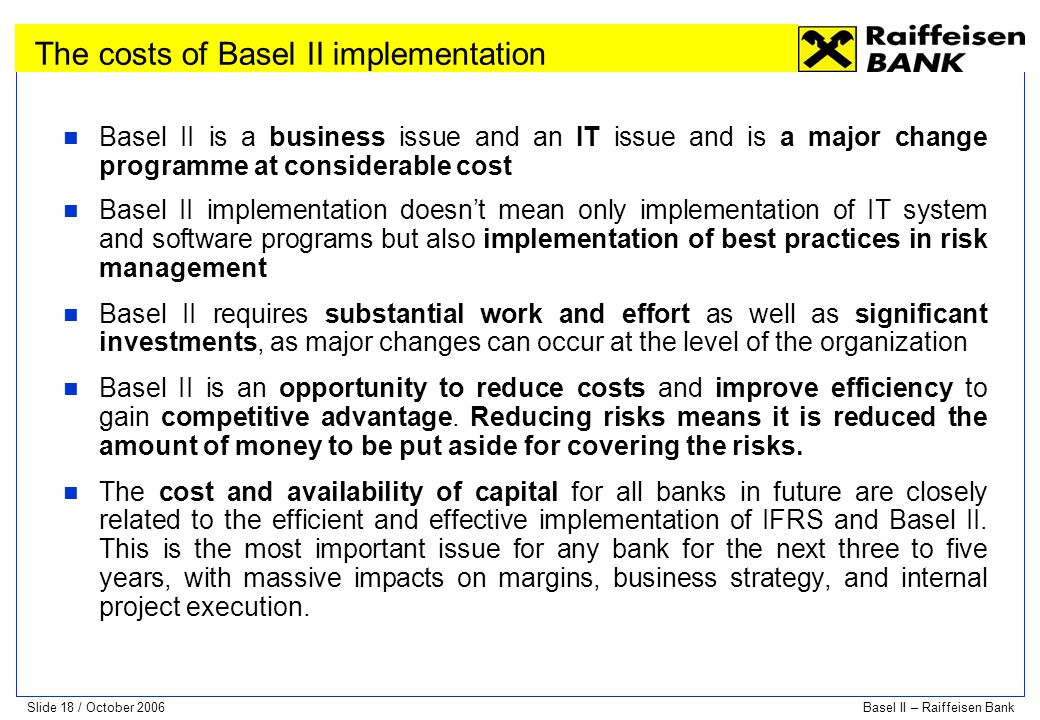 The costs of Basel II implementation