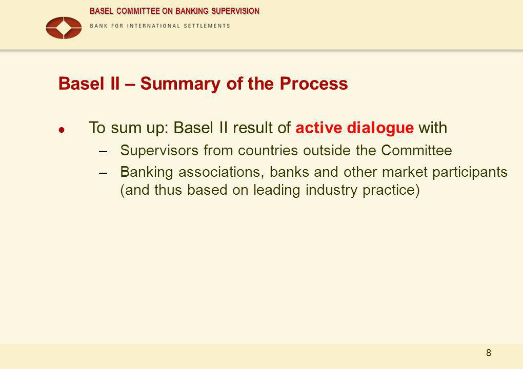 Basel II – Summary of the Process