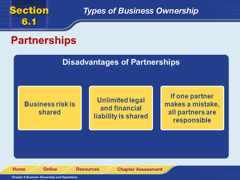 Partnerships Disadvantages of Partnerships