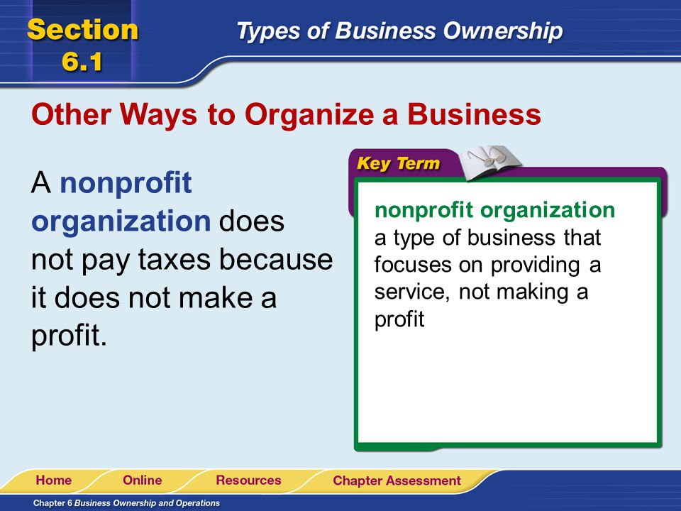 Other Ways to Organize a Business