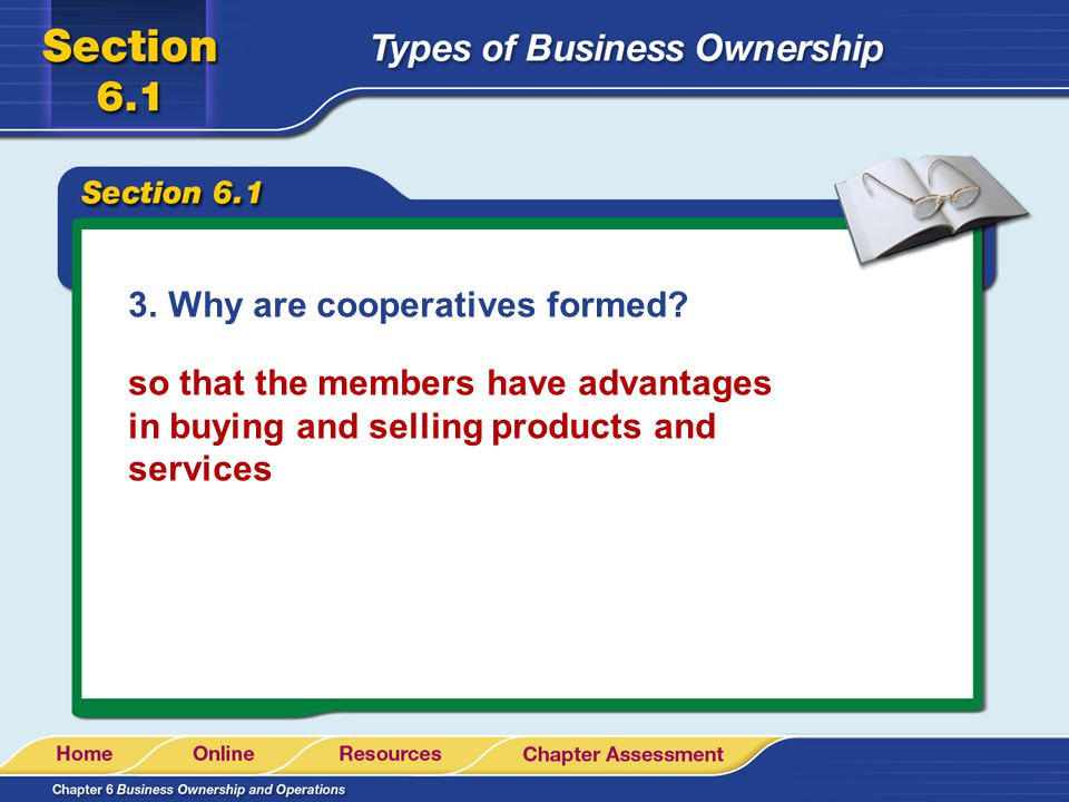 Why are cooperatives formed